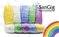Разноцветные бахилы SanGig, 3,5 гр/пара (для салонов красоты)