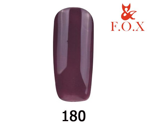 Гель-лак FOX Pigment № 180 (баклажановый эмаль), 6 мл