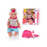 Пупс Кукла Baby Born BB 8001-8. Беби Борн. 9 Функций. 2 соски.