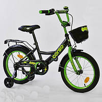 """Велосипед 16"""" дюймов 2-х колёсный G-16775 """"CORSO"""", ручной тормоз, звоночек, сидение с ручкой, дополнительные к"""