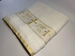 Крыжма для крещения Vende 70*140 золото (ts-00095)