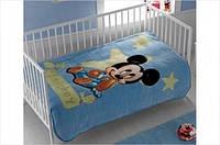 Детский плед Tac Disney  Mickey Baby 100*120 голубой (svk-1079)