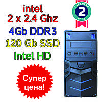 Системный блок / ПК  ( intel Celeron J1800 2 x 2.4GHz  \ 4Gb DDR3 \ SSD 120 Gb \ 400W)