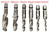 Набор 6 шт, сверла - метчики с шестигранным хвостовиком, фото 5