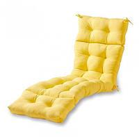 Матрас для шезлонга. Цвет: желтый. 180/60/10
