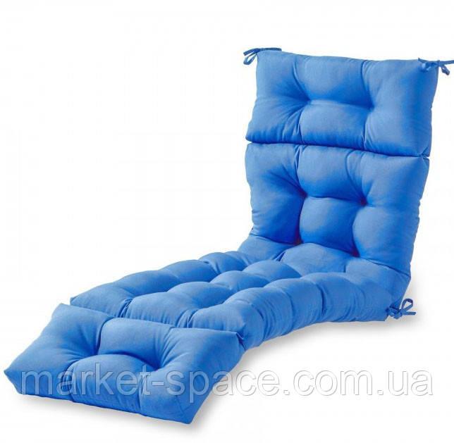 Матрас для шезлонга. Цвет: голубой.180/60/10