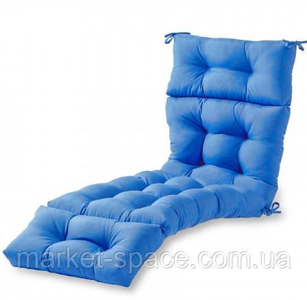 Матрас для шезлонга. Цвет: голубой.180/60/10, фото 2
