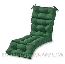 Матрас для шезлонга. Цвет: зеленый.180/60/10