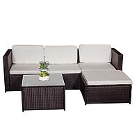 Комплект садовой мебели плетеной из ротанга BERTOK (коричневый)