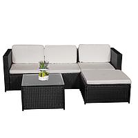 Комплект садовой мебели плетеной из техноротанга BERTOK (черный)