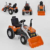Экскаватор с педалями и ковшом 07-297, оранжевый