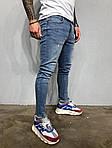 Мужские рваные джинсы (синие), фото 2