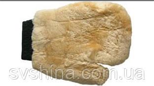 Перчатка для полировки авто, шерсть ягненка, с пальцем (26 х 20 см)