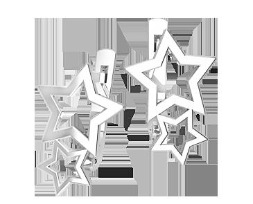 Серьги серебряные Звездочки 41329