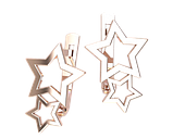 Серьги серебряные Звездочки 41329, фото 2