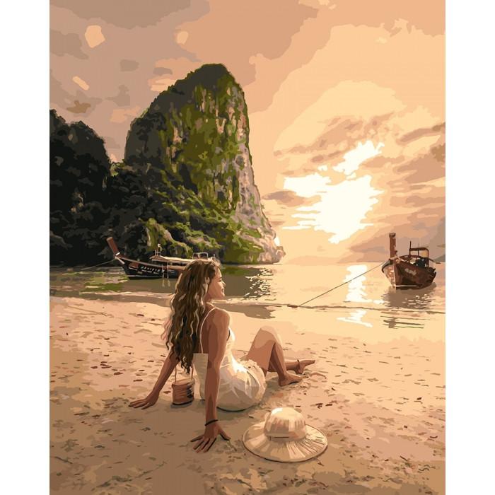 Картина по номерам Закохана у море, 40x50 см., Идейка