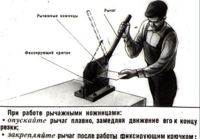 рычажные ножницы по металлу как работать