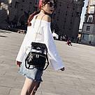 Рюкзак-сумка,сундучок прозрачный PingShang черный (AV122), фото 2