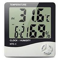 Гигрометр HTC-1 термометр часы будильник, фото 1