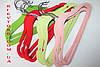 Вешалки детские флокированные (бархатные) 30 см, плечики салатовые, фото 4