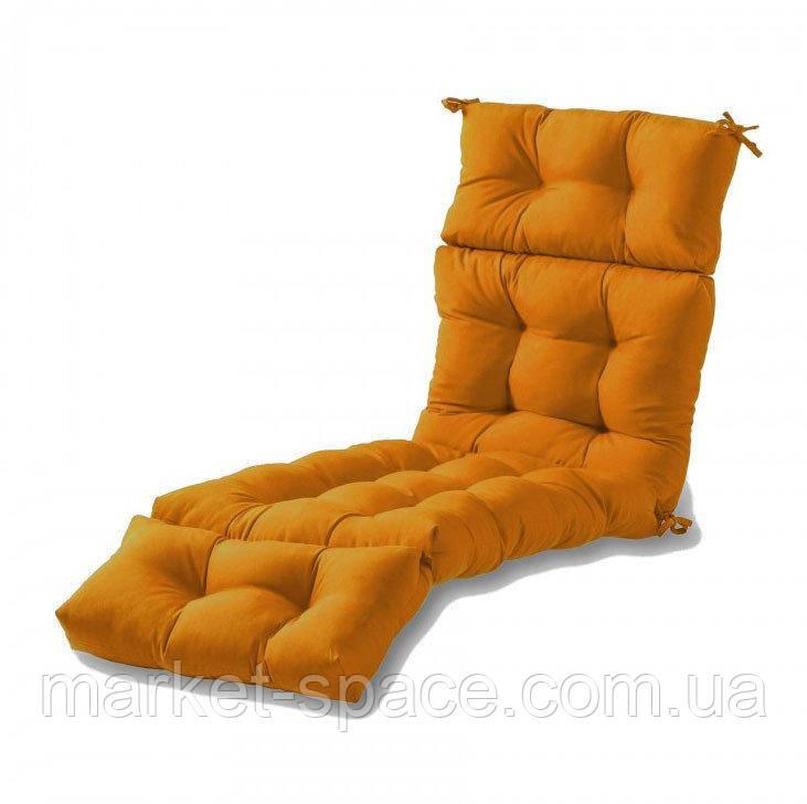 Матрас для шезлонга. Цвет: оранжевый.180/60/10