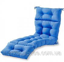 Матрас для шезлонга. Цвет: синий.180/60/10, фото 3