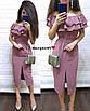 Легкое нарядное платье длины ниже колена с двойным воланом от груди, фото 4