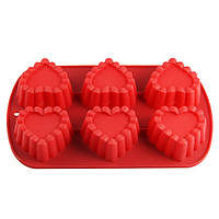 Силиконовая форма для выпекания 6 кексов 26,5х16х3,5 см Maestro MR-1598