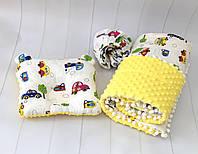 dd386f1d0ee7 Набор в детскую коляску (плед с утеплителем, простынь на резиночке,  ортопедическая подушка)