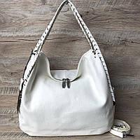 Женская кожаная сумка белая Polina & Eiterou, фото 1