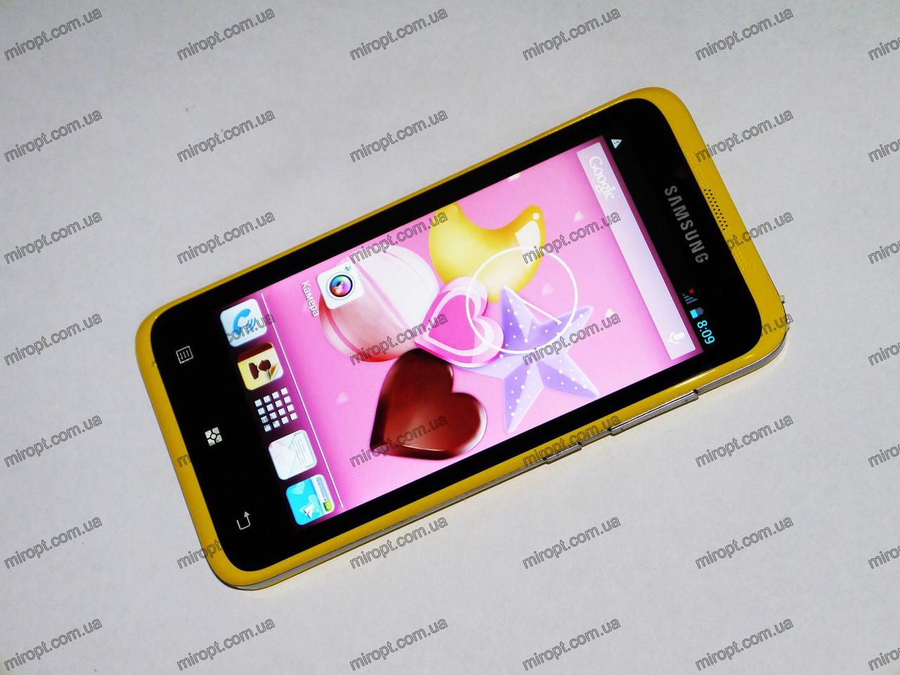 Телефон Samsung Timmy E128 Желтый - 4,5''+2Ядра,512 ОЗУ+5Mp