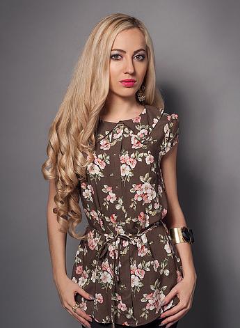 Цветочная женская летняя блуза, фото 2