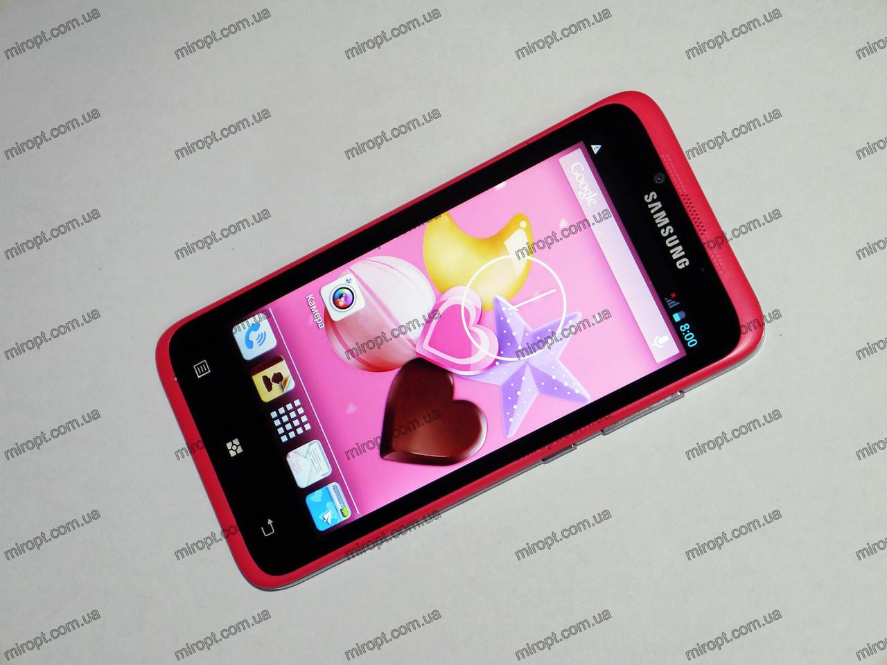 Телефон Samsung Timmy E128 Розовый - 4,5''+2Ядра,512 ОЗУ+5Mp, фото 1