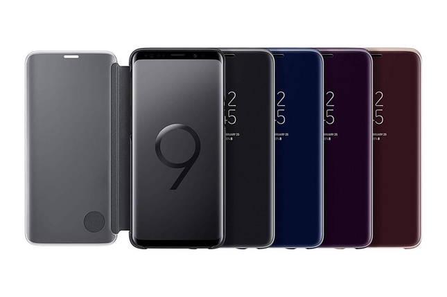 Чехол - Samsung Clear View EF-ZG960 для Galaxy S9 синий, фото 2