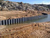 Укрепление берегов озер, рек, прудов  +38(098) 497- 80- 09