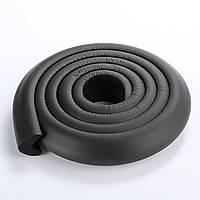 Защита на острые края мебели, лента защитная для торцов и углов мебели. Черная