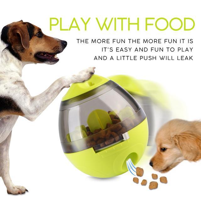 Игрушка неваляшка-дозатор  для собак интерактивная