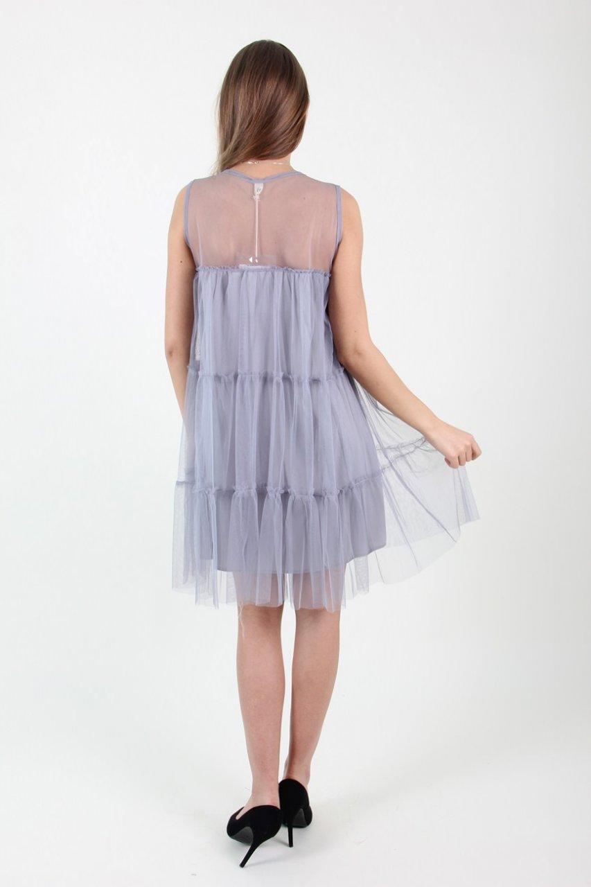 Платье 8837(серое)