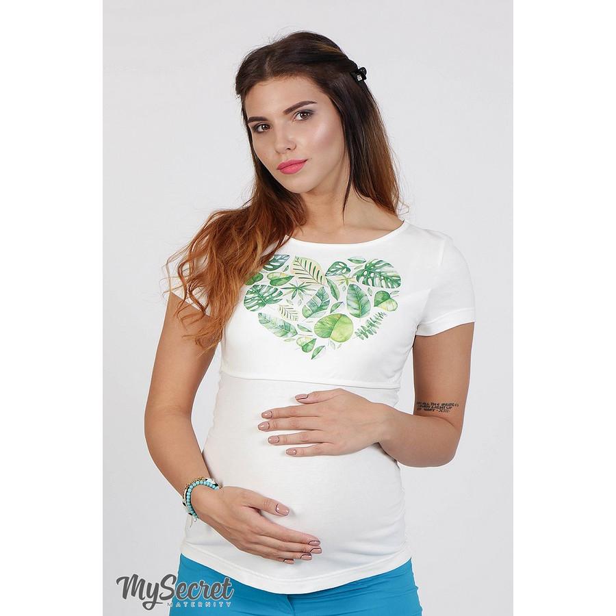 Футболка для беременных и кормящих Demi ЮЛА МАМА (белая, размер S)