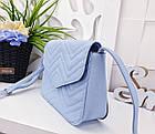Женская сумка голубого цвета, эко-кожа , фото 2