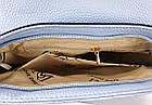 Женская сумка голубого цвета, эко-кожа , фото 4