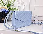 Женская сумка голубого цвета, эко-кожа , фото 6