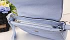 Женская сумка голубого цвета, эко-кожа , фото 5