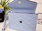 Женская сумка голубого цвета, эко-кожа , фото 7