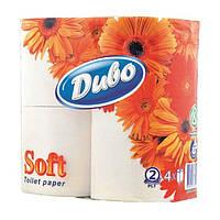 Туалетная бумага 2-х слойная 4рул. 150 целлюлоза белая 0130149