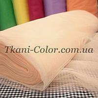 Ткань фатин средней жесткости светло-персиковый