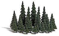 Busch 9779 Набор деревьев, 24 шт Ели с корневыми ножками. Высота деревьев от 40 до 135 мм / TT,H0, фото 1