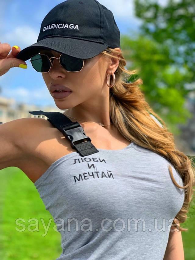 женская футболка-топ