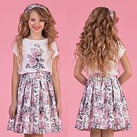 Цветочный комплект юбка + блуза zironka