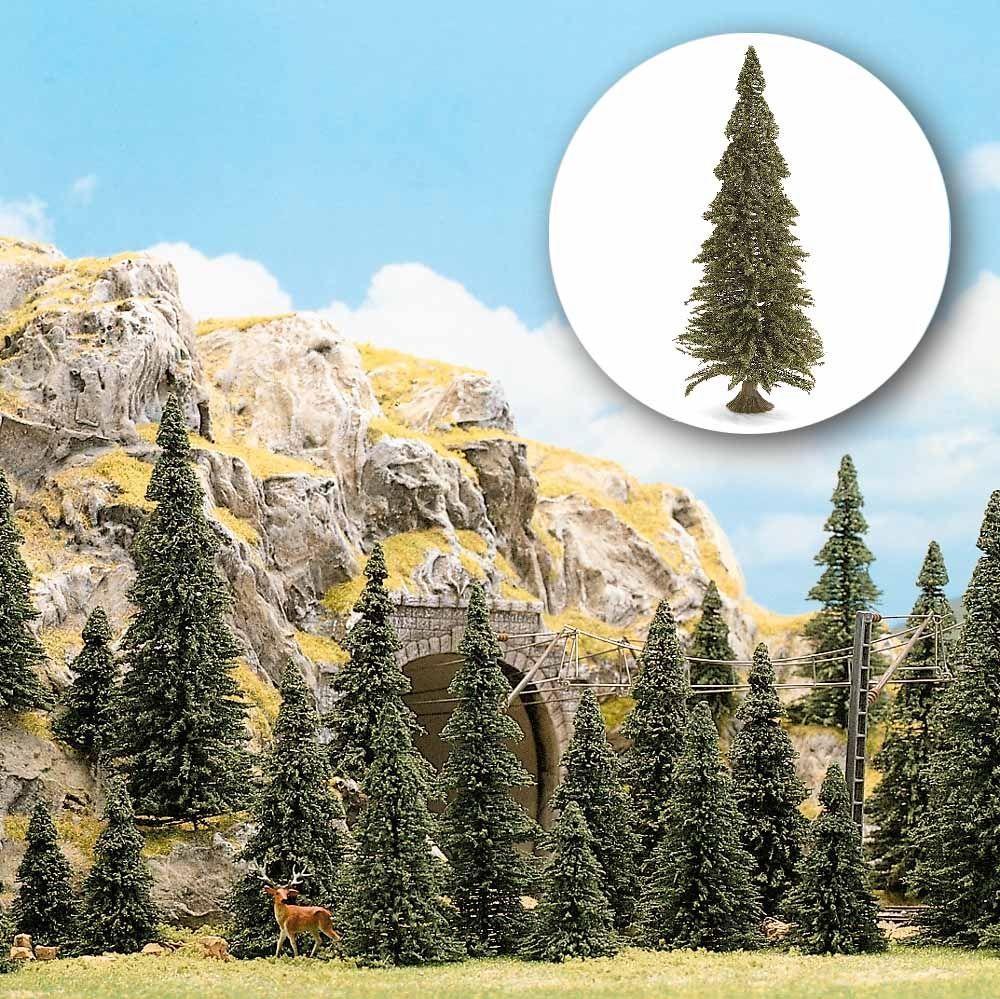 Busch 6577 Набор деревьев Сосны 40 штук с корневыми ножками. Высота деревьев от 30 до 60 мм / TT,H0